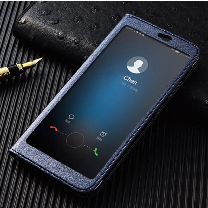 timeless design 87f2d 72a6e wholesale View 10 Case on Huawei Honor V10 Full View window luxury PU  leather flip cover case for Huawei Honor View 10 V10
