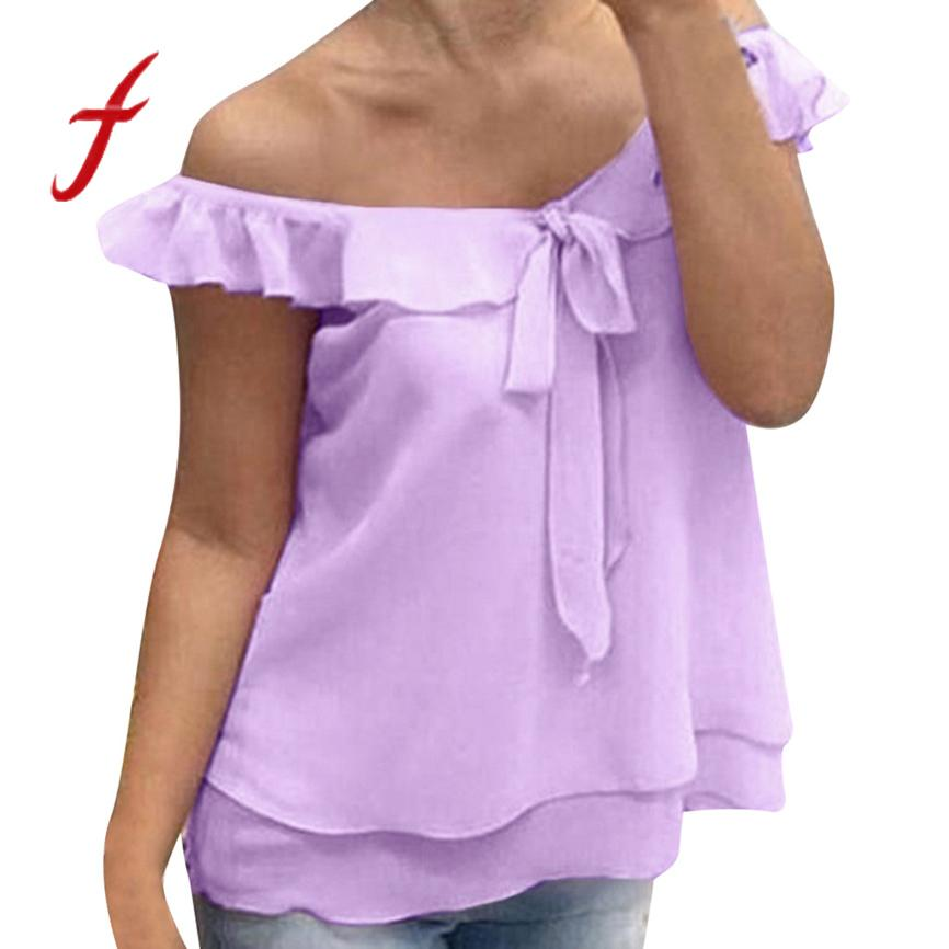 c99519b6e0d Summer t shirt women new arrivals Women's casual solid color loose chiffon  shirt summer office ladies bow tie vest mesh top 5XL