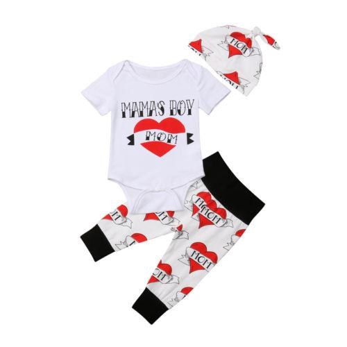 82f753161302 2019 Newborn Baby Boy Infant Clothes Sets Romper Jumpsuit Short Sleeve Pants  Hat Cotton Casual Clothes Outfit Baby Boys 0 18M From Cassial
