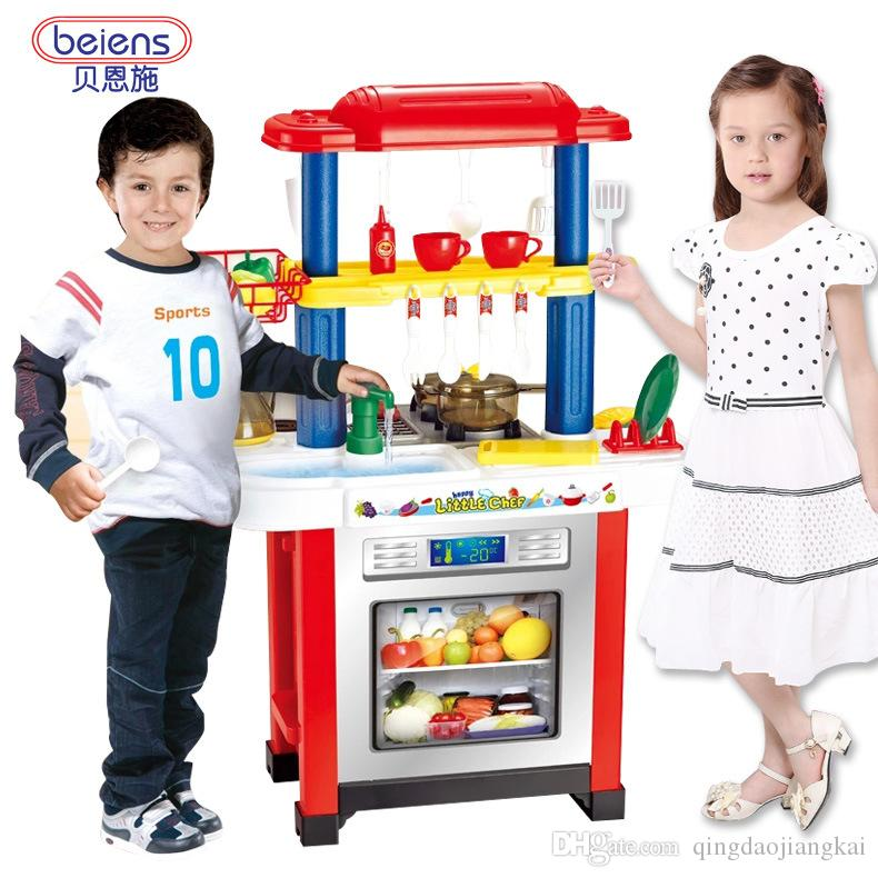 Us Eu Hotsales Beiens Brand Toys No768 Children's Play Kitchen Set Kitchen Cooking Toy Simulation Toy Boys And Girls Pretend Play Toys