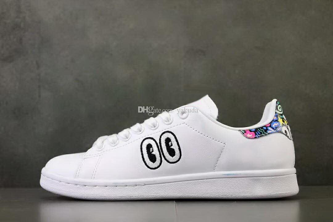 the latest c1652 1dec0 STAN SMITH W With Big Eyes,Sweethearts lovers Shoes,ladies running  shoes,formal shoes for women,beautiful report outlet rubber simple shoes