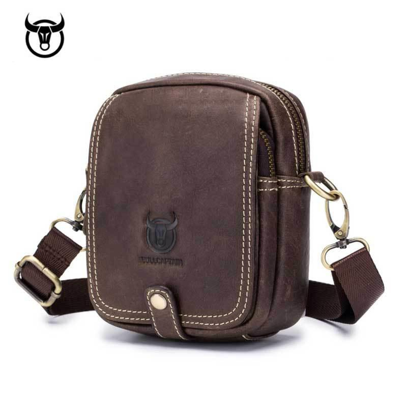 40f52c3a36 Small Genuine Leather Men s Shoulder Bag Mini Cowhide Leather ...