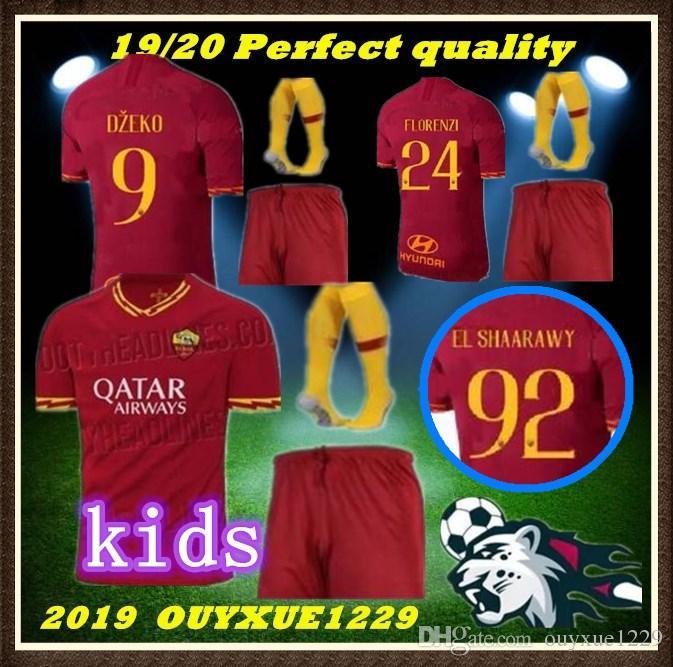 6441d473d 2019 Kids Kit 2019 2020 ROMA Soccer Jersey 19 20 HOME Rome DE ROSSI DZEKO  EL SHAARAWY PASTORE KOLAROV AS Maglietta Da Calciatore Casa Ro From  Ouyxue1229, ...