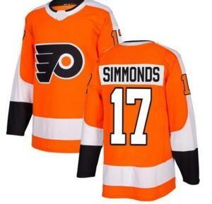 Philadelphia Flyers Simmonds 17 Orange Home Stitched Jersey ... ce57f931a