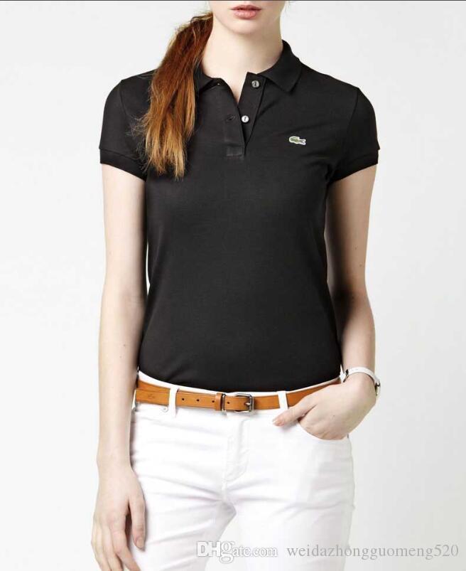 d5112f2e2e Acheter Mode Tops Femme T Shirts Polos LACOSTE De Haute Qualité T Shirt  Brodé Camisa De Polo Sport T Shirt Camiseta Casual De $21.1 Du  Weidazhongguomeng520 ...