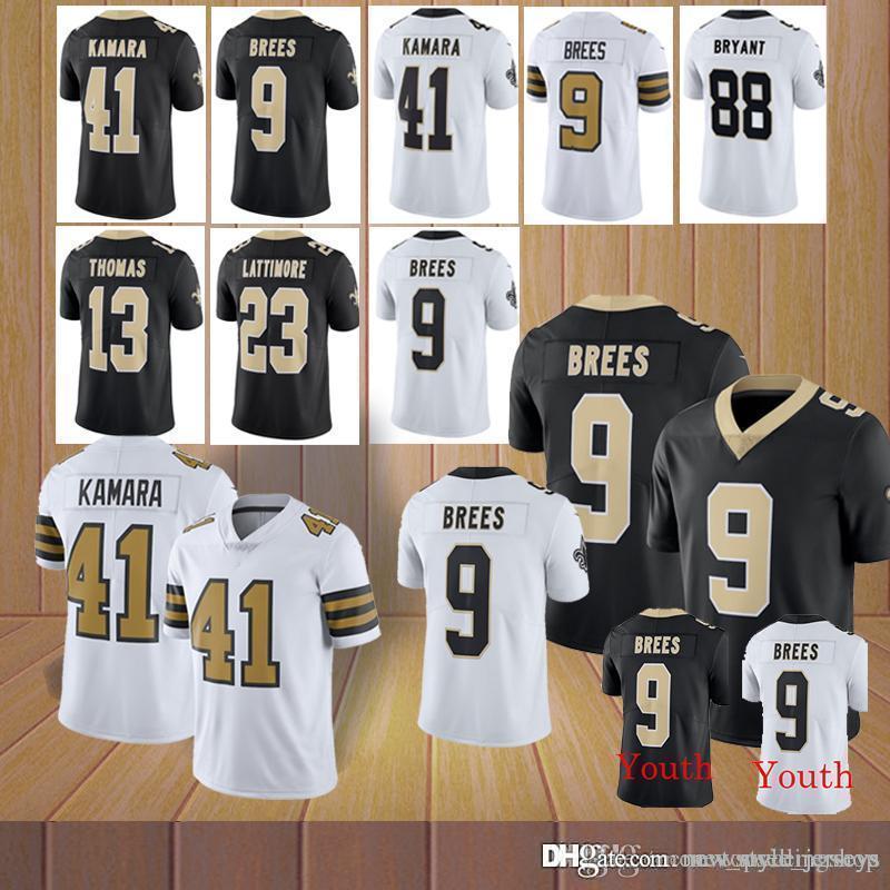 buy popular e03e3 4ce7b Kamara New Orleans Saints jersey 9 Drew Brees 41 Alvin Kamara 28 Adrian  Peterson 23 Marshon Lattimore 13 Michael Thomas Brees