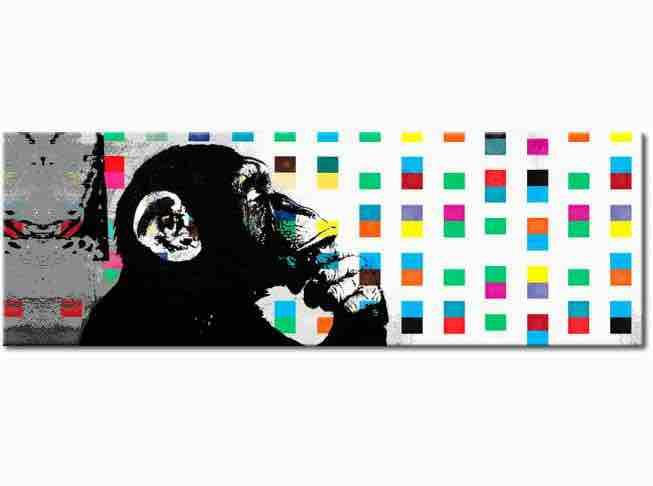 the thinker monkey by Banksy High Quality Handcrafts Wall Decor Graffiti Art Oil Painting On Canvas Multi size /Frame Options