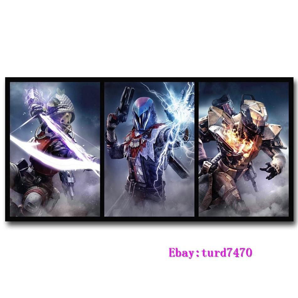 Destiny 2 The Taken King Game,3 Pieces Canvas Prints Wall Art Oil Painting  Home Decor (Unframed/Framed)