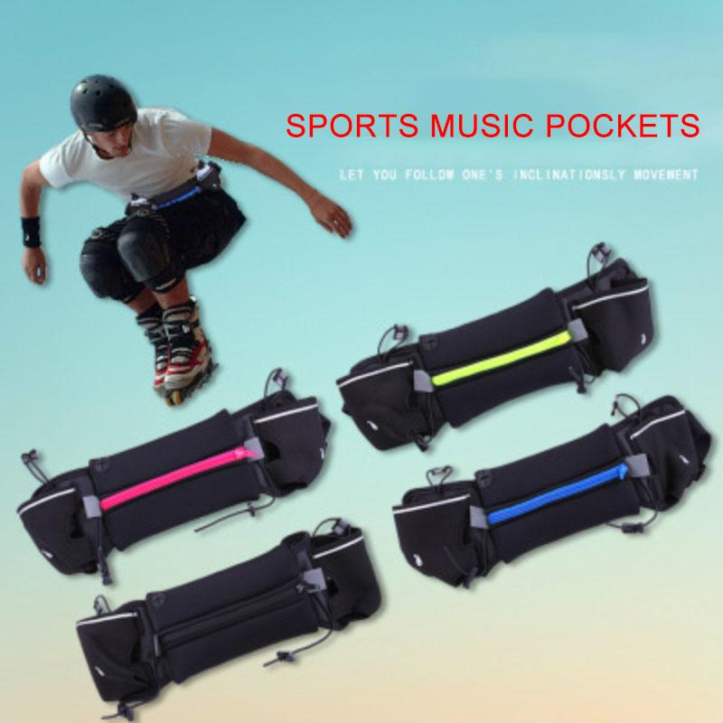 1abd6841369 2019 Mini Sports Trail Running Belt Waist Bag Marathon Portable Cycling Gym  Bolsa Waterproof Running Belt With Kettle Music Pockets From Marchnice, ...