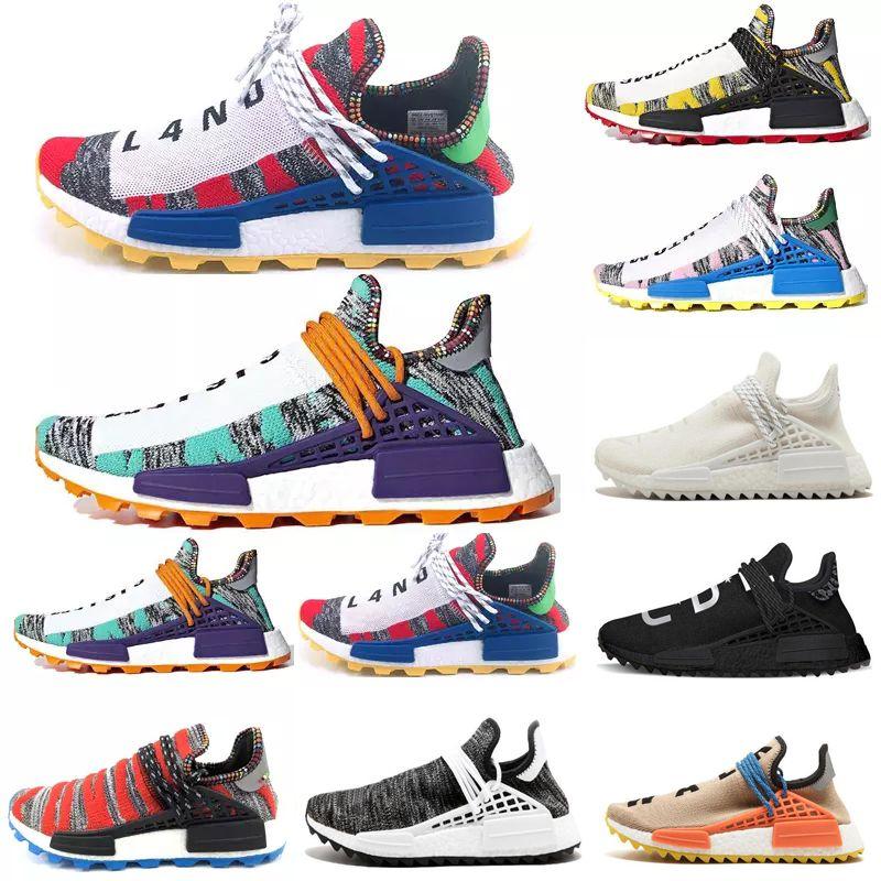 05bc318516a04 2019 Fashion Human Race Men Women Running Shoes Pharrell Williams ...
