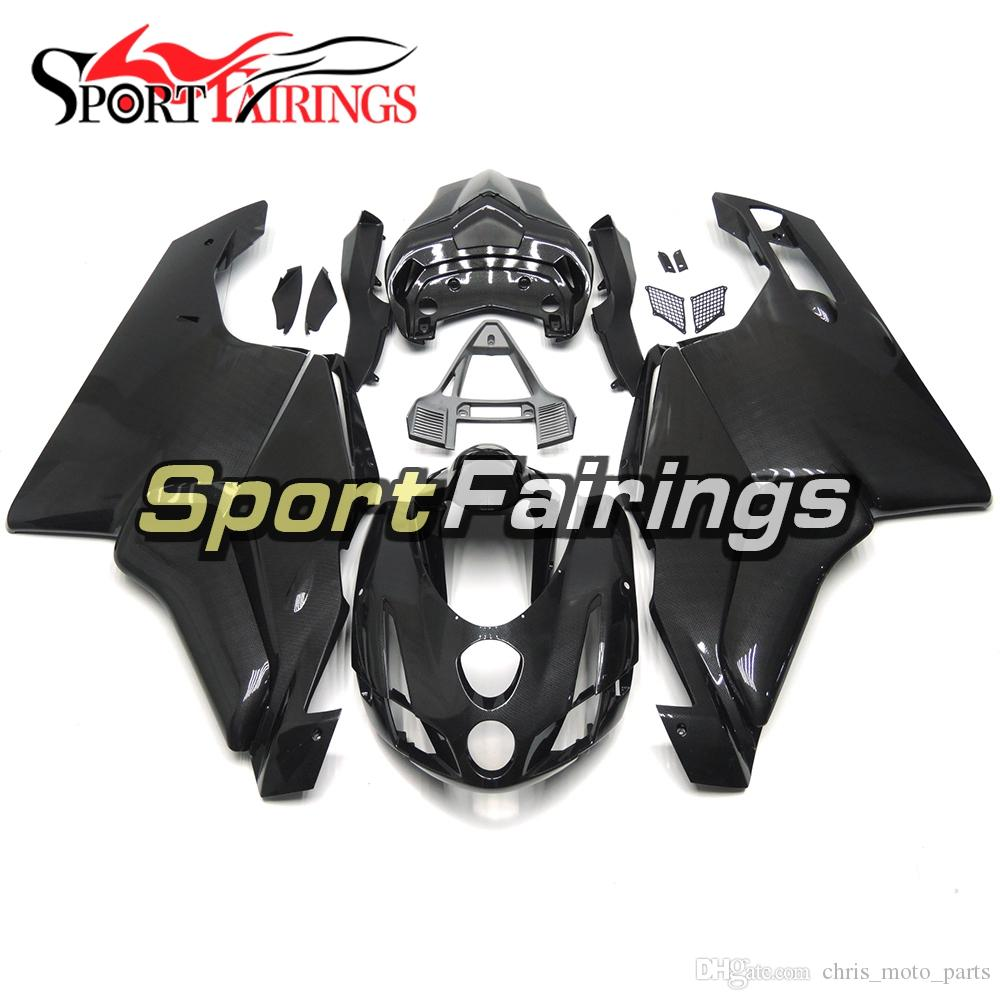 Carbon Fiber Effect Black Hulls For 2003 - 2004 Ducati 999/749 Monoposto (Single Seat) Complete Plastic Fairings 2003 2004 Bodywork Kit