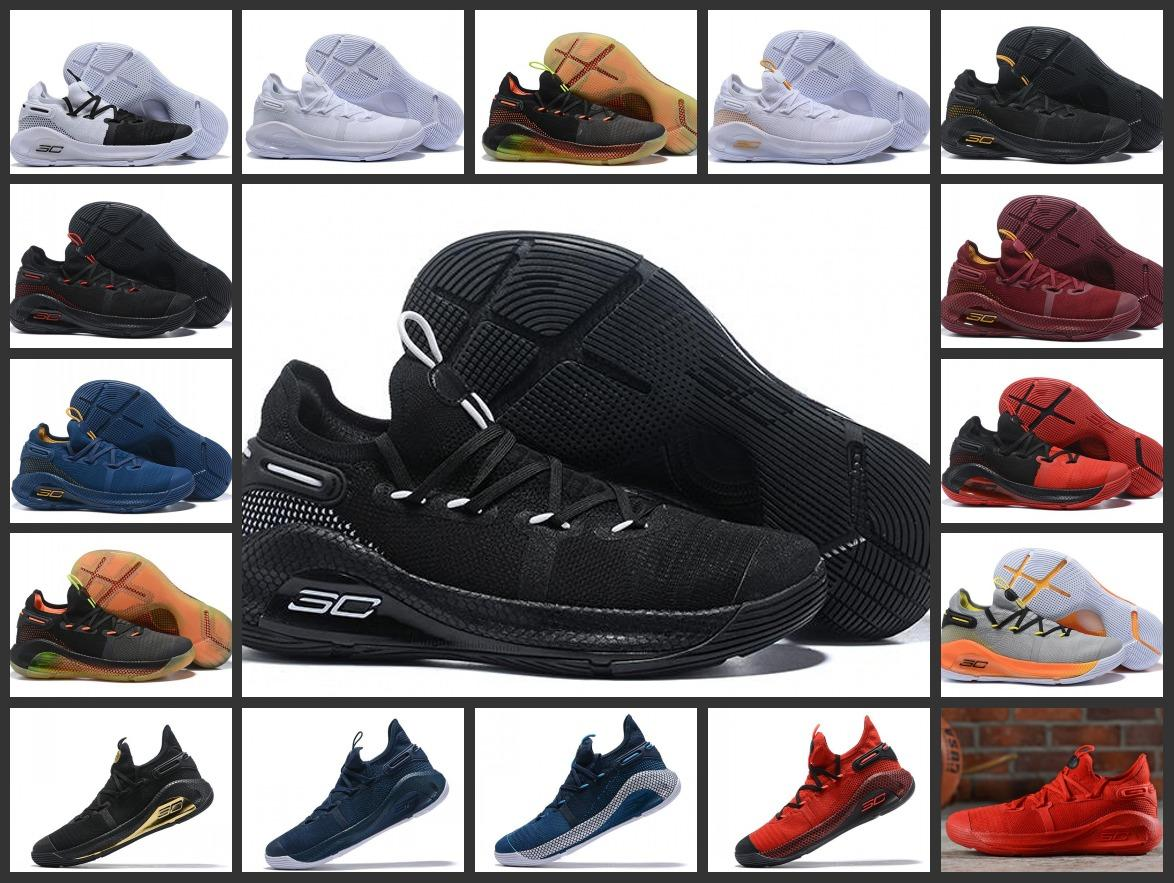 c3f3ec048aa3 2019 2019 Mens Curry 6 Basketball Shoes New Fox Black Green Red Rage ...