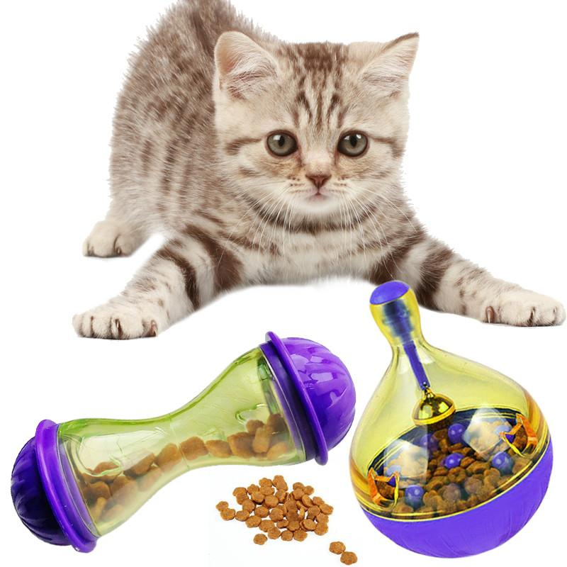 Comida Gato Inteligente Juguete Interactivo Trata Para La De Mascota Más Perros Pelota Vaso Comederos Huevo Sacudir Gatos OPn0k8Xw