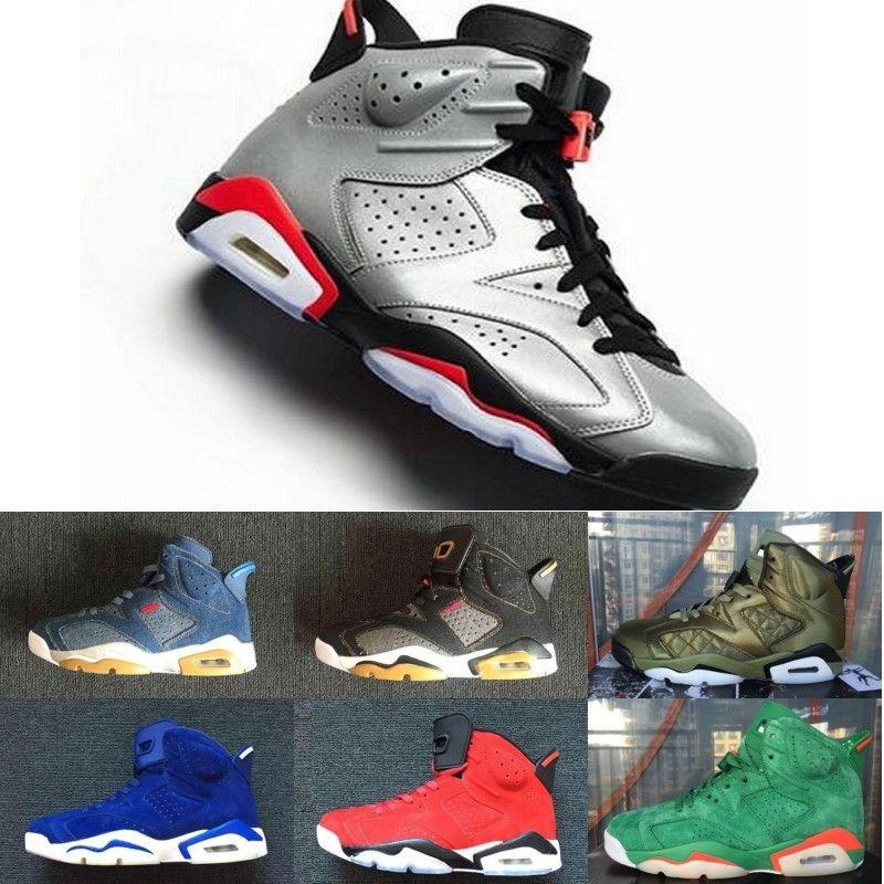 new style 75944 b71ec 2019 JSP 6 Reflective Bugs Bunny Men Basketball Shoes 3M 6s Reflective  Silver retro retros Reflect Carmine Gatorade Sports Infrared Sneakers