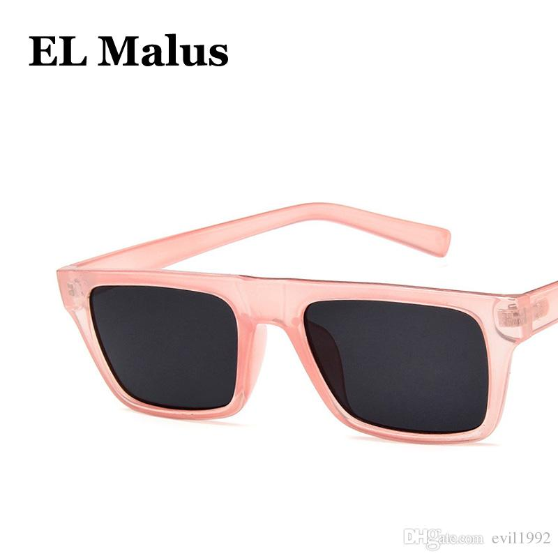 df1edbe377 EL MalusRetro UV400 Sunglasses Square Thin Frame Women Famous Brand Designer  Black Pink Red Lens Mirror Sun Glasses Female SG077 Sunglases Cheap Designer  ...