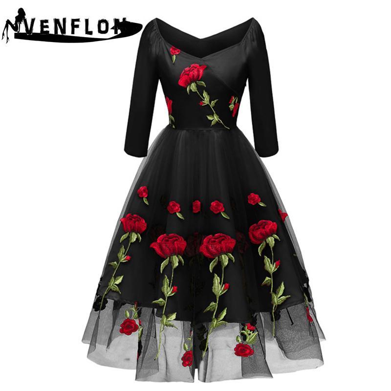 32e780c38341 Acquista Fenghua 2019 Primavera Estate Dress Donne Ricamo Fiore Wedding  Party Dress Elegante Sexy Off Spalla A Line Abiti Di Pizzo 2XL D19011501 A   42.53 ...