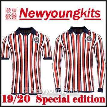 premium selection 5e4c6 4de4e 2018 19 chivas soccer Jersey 2019 2020 Guadalajara Special edition stripe  long sleeve Football uniforms BRIZUELA short sleeves soccer shirt