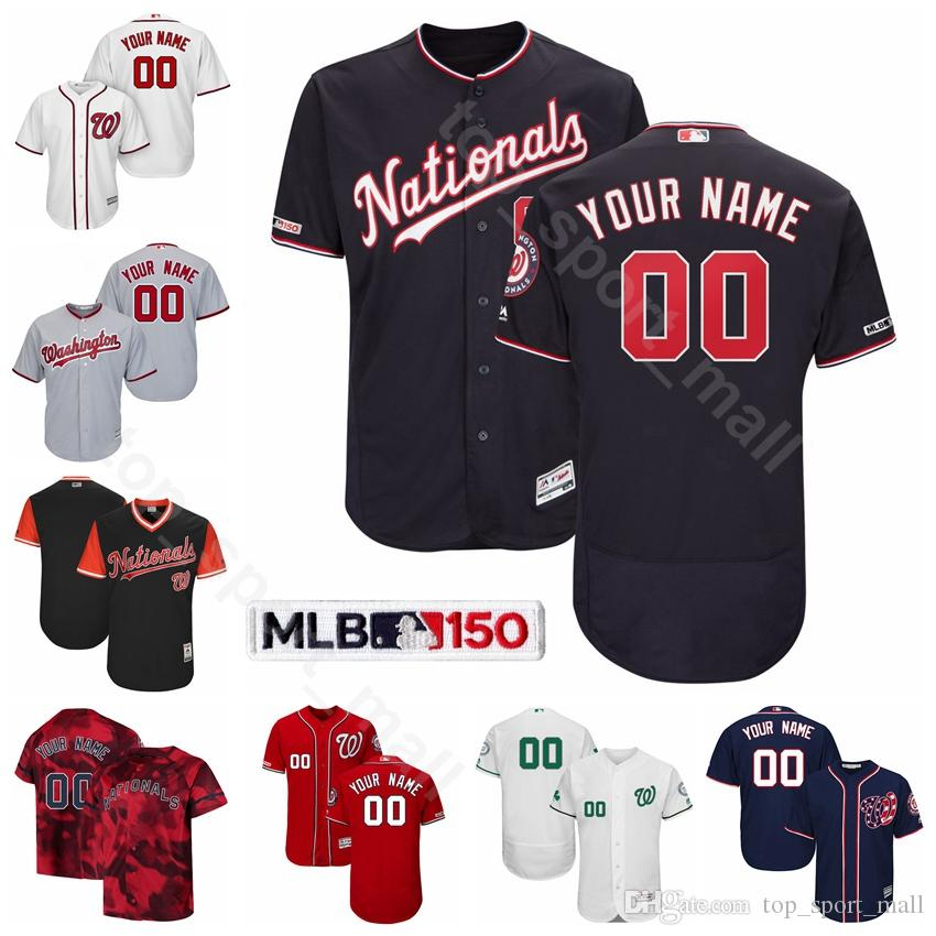 on sale 6cd64 4fdd0 Washington Baseball Nationals 2 Adam Eaton Jersey Flexbase 6 Anthony Rendon  22 Juan Soto 9 Brian Dozier 16 Victor Robles 11 Ryan Zimmerman