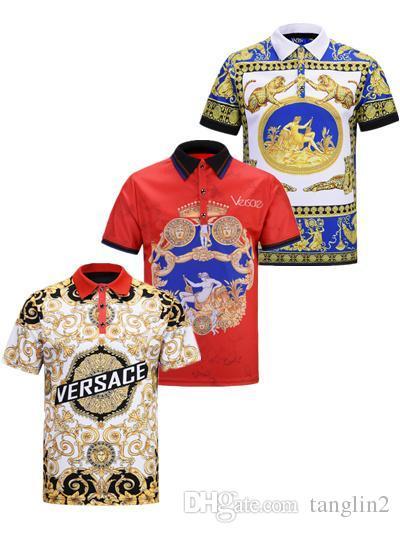 0084a7d94 2019 Italian Summer New T-shirt Medusa Polo Shirt High Street ...