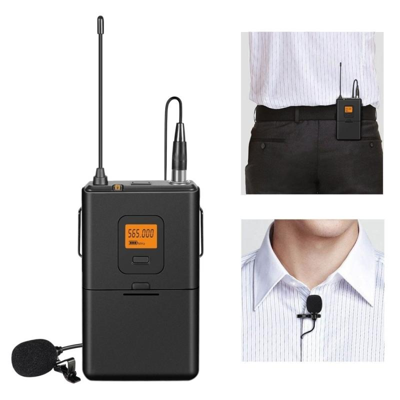 HAWEEL U Segment Selectable 20-channel Wireless Lavalier Microphone for  Live Broadcast etc Compatible with Notebook, Phone etc