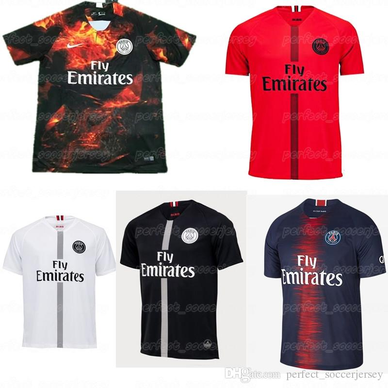 size 40 7119a f34ca 2018-2019 PSG Best-selling Soccer Jersey Paris 7 MBAPPE 32 DANI ALVES 9  CAVANI Quality products Men s and KID s Good texture jersey