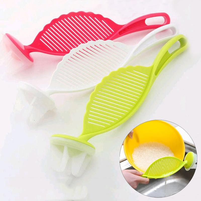 kitchen Accessories Cooking Tool Wash Rice Stirring Colander Device Multi Colors Useful Convenient Creative Wash Rice Strainer DH0457 T03