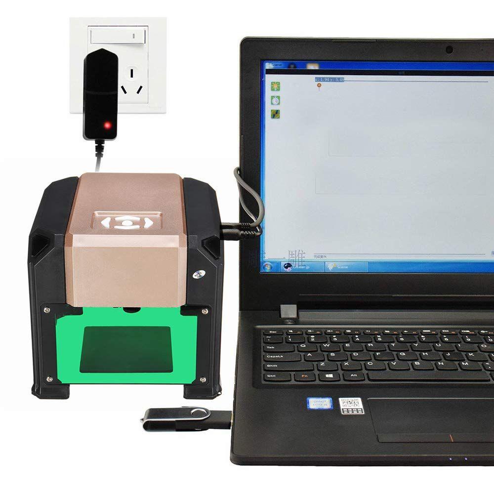 Laser Engraver 3000MW Laser Engraving Machine Mini Desktop Engraver Machine  DIY Logo CNC