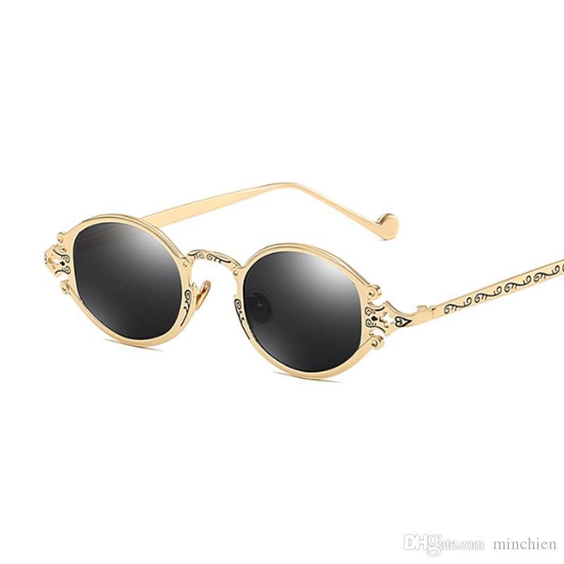 0780191c3f Vidano Óptico 2019 novo luxo steampunk óculos de sol para homens e mulheres  oval coroa óculos de design gótico do vintage retro máscaras do punk