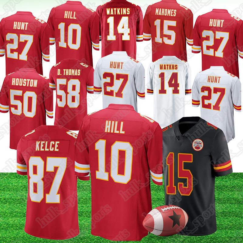 online store 20734 e7917 Kansas City 10 Tyreek Hill Chief jersey 15 Patrick Mahomes 87 Travis Kelce  14 Sammy Watkins american football jerseys