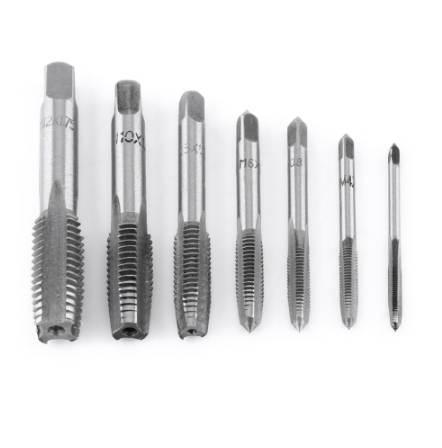 7Pcs/Lot Metric Thread Steel Tap Tapping Thread Tap Tool M3, M4, M5, M6, M8, M10, M12 Screw Taps Tool Set