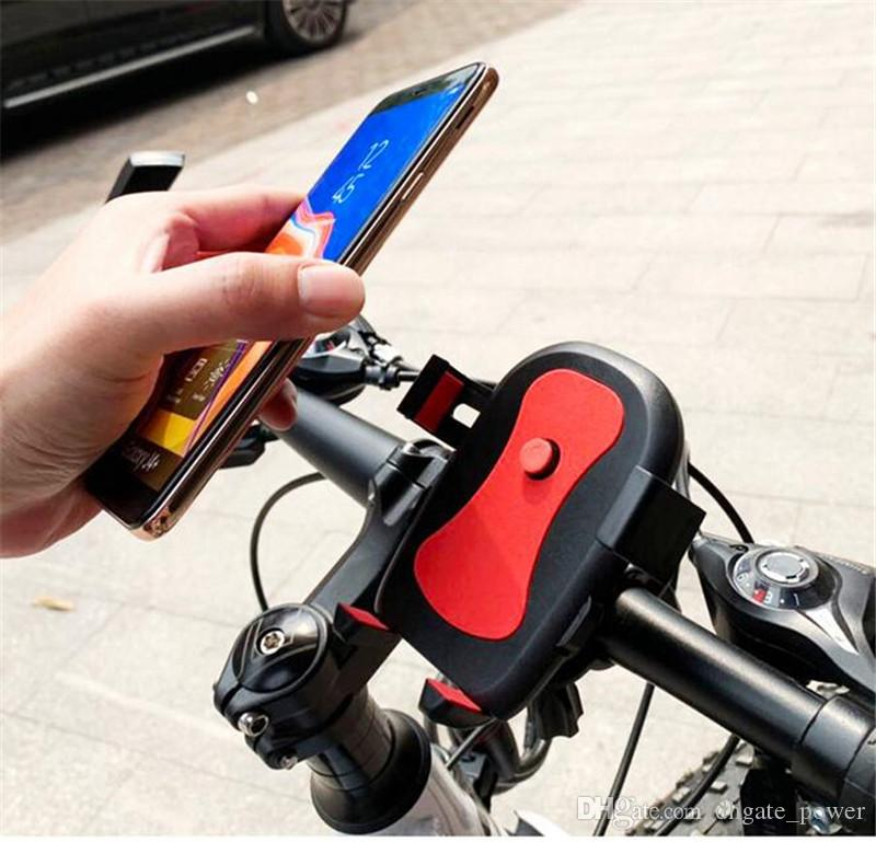 Bycyle Phone Mount Cellphone Holder Universal Cellphone Bicycle Rack Handlebar & Motorcycle Holder Cradle for Smartphone Phones Hands Free