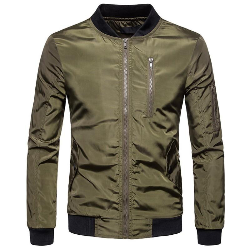 e0c326f785b4 2019 Spring Autumn Casual Jacket Men Solid Fashion Slim Bomber Jacket Male  Overcoat Baseball Jackets Men S Streetwear Coats Summer Jackets Shearling  Jacket ...