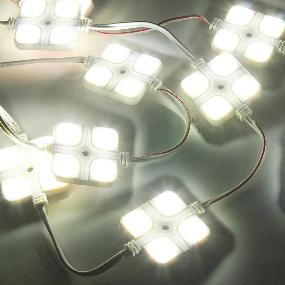 RV 반 보트 트레일러 밝은 흰색을위한 12V 10x4 LED 자동차 램프 지붕 라이트 키트 내부 화이트