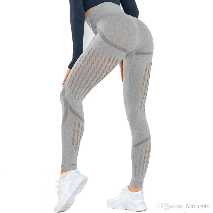 f6ea84754f6ab Compre Binand Slim Fit Gym Energy Leggings Sin Costuras Mujeres ...