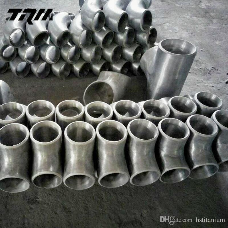 Produce Low Price Titanium gr2 tee pipe fitting Titanium ASTM B363 Forged  Socket Weld Barred Reducing Tee Dimensions