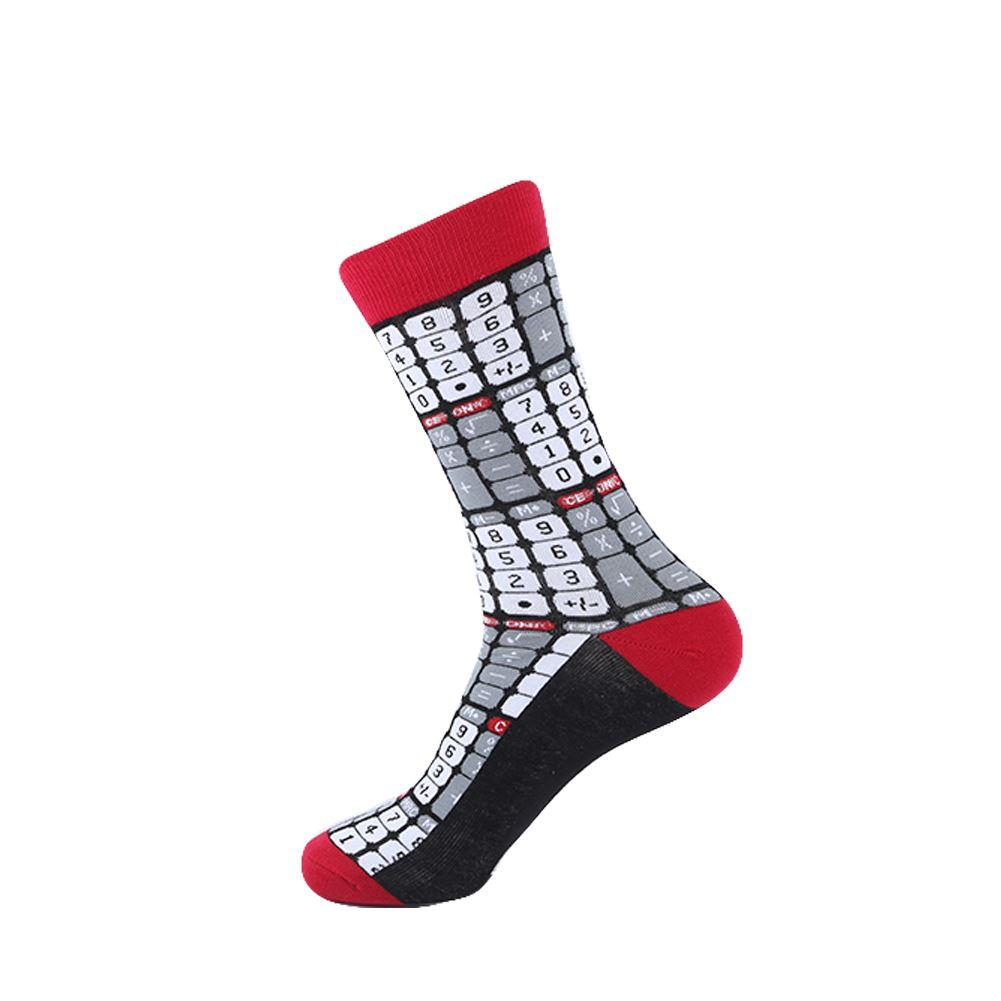 YEADU Funny Men's Colorful Combed Cotton Fashion Socks Alien Cat Beer Casual Party Dress Socks Men