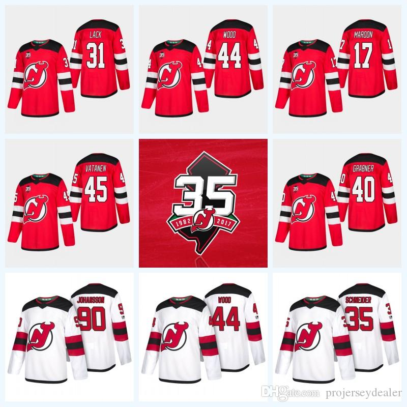 Womens 44 Miles Wood New Jersey Devils 35th Anniversary 9 Taylor ... a44ef3bf0