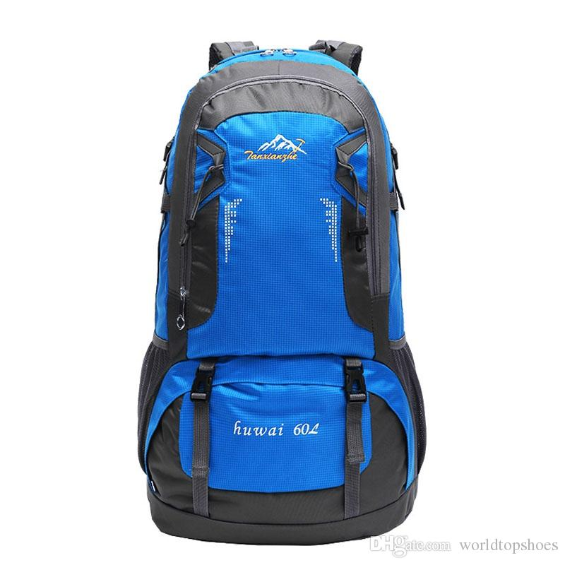 e4bb3088d0 60L Travel Bags Mountain Hiking Camping Bagpack Outdoor Bag Sport ...