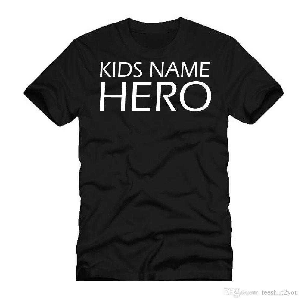 b8df5833 Personalized Fathers Day T Shirt Birthday Gift Present Idea For Hero Daddy  Tee Shirt Men Designer White Short Sleeve Custom Plus Size Couple T Shirt  Online ...