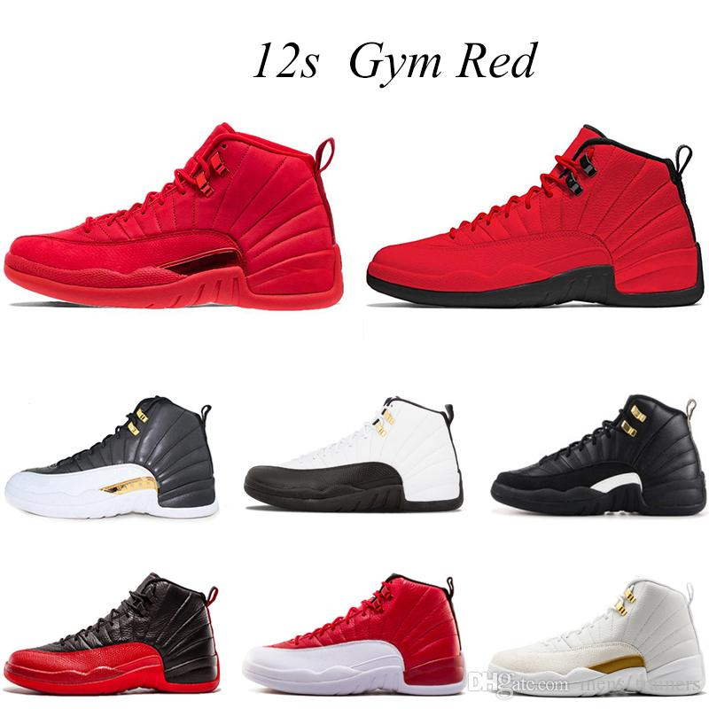 competitive price 5433b 54f67 12 Bulls gym red 12s Flu Game men basketball shoes gamma blue UNC bulls UNC  o-black the master black white taxi Sports trainer sneakers