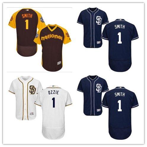 c13afc20 2019 San Diego #1 Ozzie Smith Jersrys Padres Men#WOMEN#YOUTH#Men'S ...