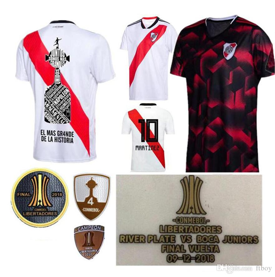 2019 River Plate Home White Soccer Jersey 18 19 riverbed River Plate Home Soccer Shirt 2018 Customized Football Uniform Sales