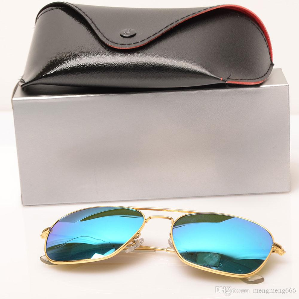 mens sunglasses glass lens 3136 sun glasses Color lens Mirror sunglasses womens glasses fashion new design sun glasses with cases boxs