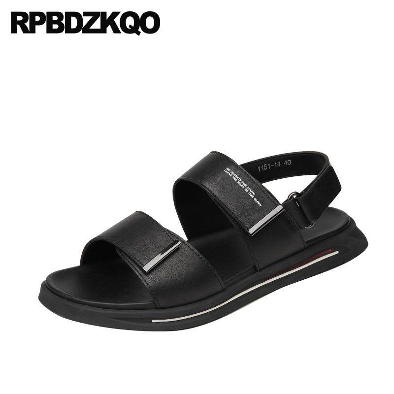 ee824cb3be3eaf High Quality Black Slides Shoes Slippers Japanese Sport Sneakers White Flat  Platform Men Sandals Leather Summer Genuine Slip On Jack Rogers Sandals  White ...