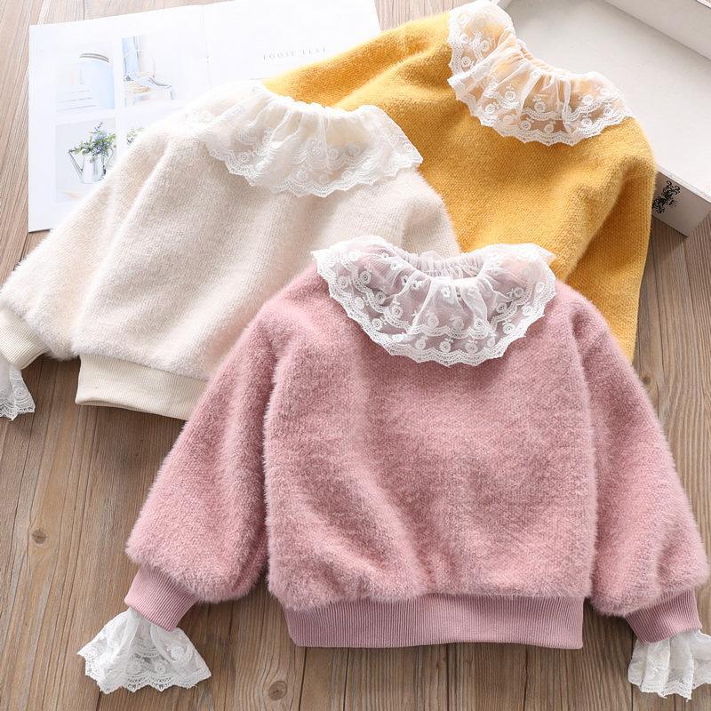 2c45164f37 Maglioncino Princess Top in maglione lavorato a maglia per bambina, rosa,  giallo, bianco, autunno, autunno, bambini, maglia, abbigliamento