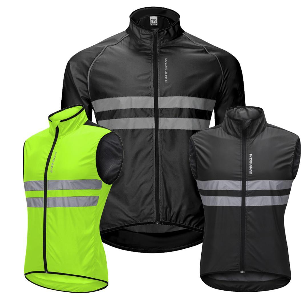 WOSAWE High Visibility Jacket Water Resistance Cycling Running Waistcoat  Night Riding Safety Warning Vest MTB Cycling Clothes Cycling Jackets Cheap  Cycling ... 0f62a8d5d