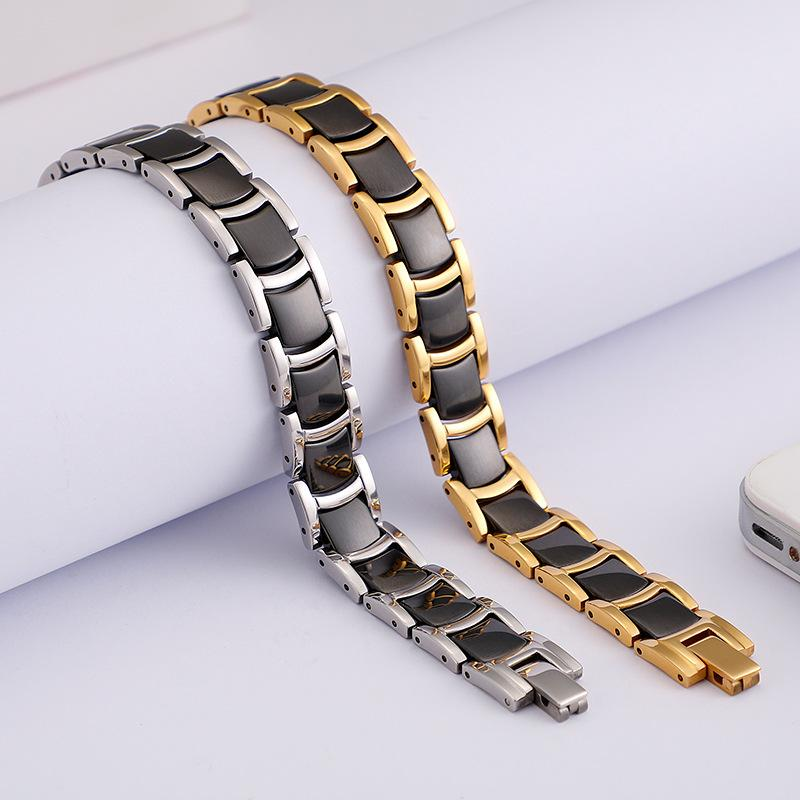 New fashion accessories black charm tungsten steel magnet bracelet men's classic jewelry