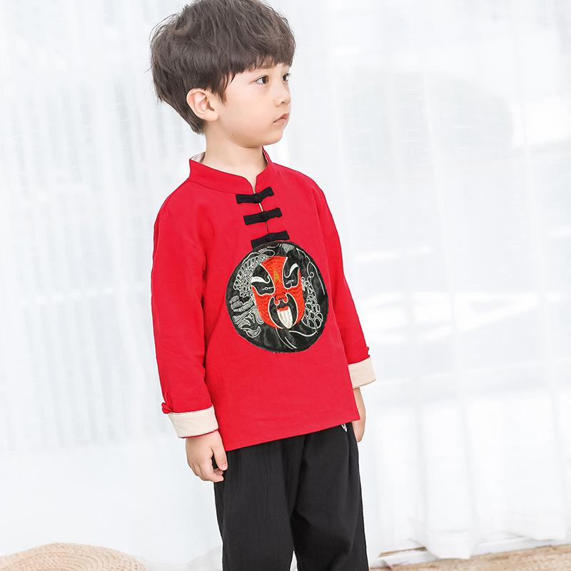 ba8cffaa1 2019 Traditional Boys Tang Suit Cotton Linen Long Sleeve Chinese Vintage  Costume Children Hanfu Clothes Stage Performance Clothing From Yuancao, ...