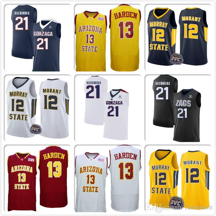 los angeles 57efd 17d49 NCAA 21 Rui Hachimura Gonzaga Bulldogs College Jersey 13 James Harden  Jerseys Arizona State Sun Devils Stitched Jerseys