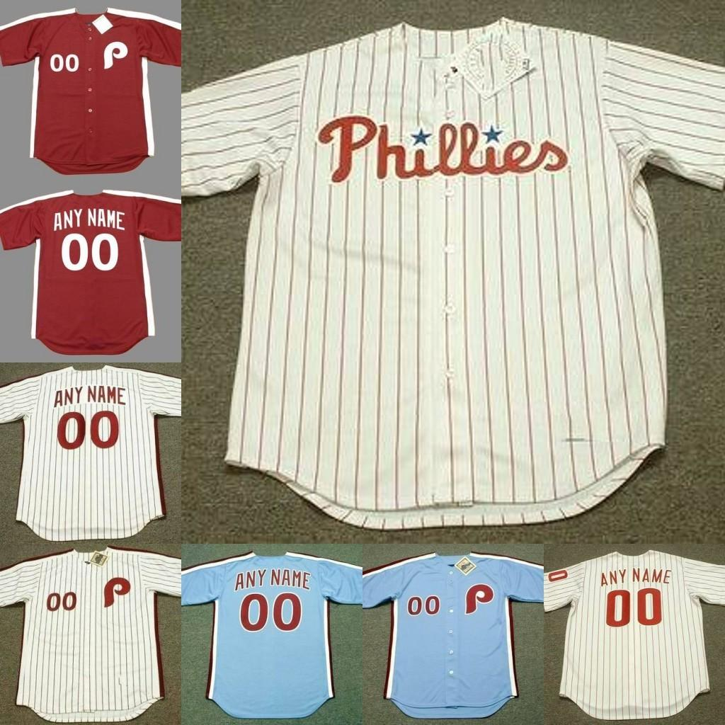 wholesale dealer 35290 2b50a Custom mens throw back Phillies RYAN HOWARD BOBBY WINE BOB BOONE BOB UECKER  MANNY TRILLO baseball jersey stitched S-5XL